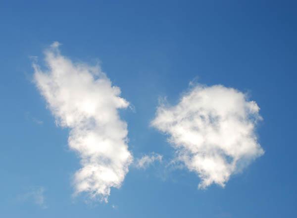 蓝天白云惊现中国地图形状[暑期连连看]