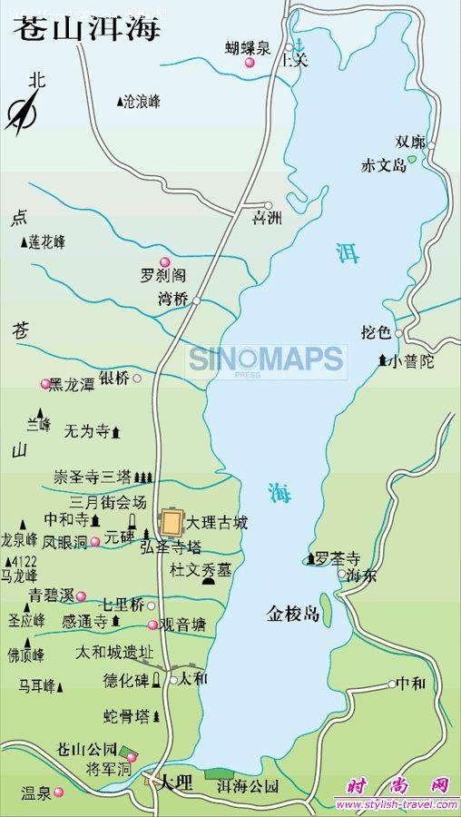 环洱海地图