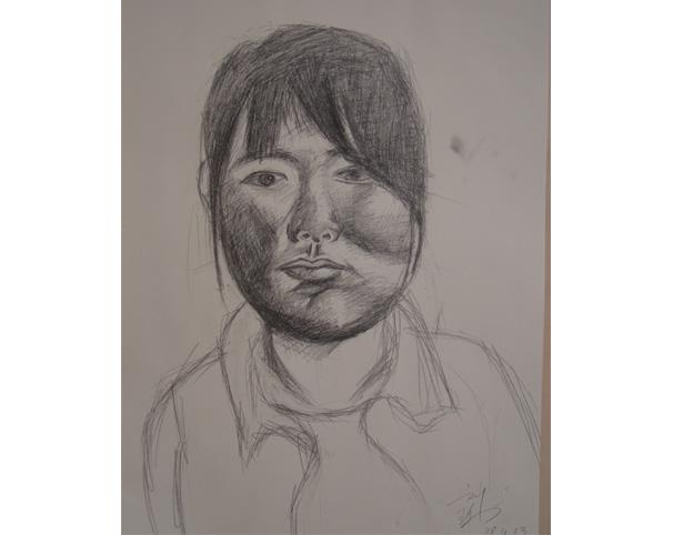我学画10年了,最近画的素描,老师说我进步很大,各位吧