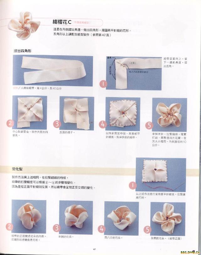 丝带花的制作(转载)