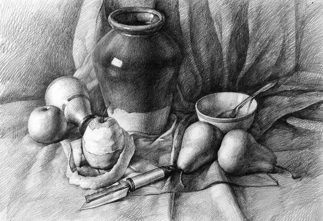 水果创意素描设计图