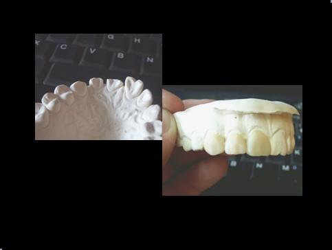 蜡块雕牙的步骤图解
