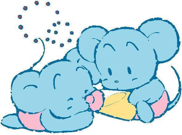 可爱的老鼠宝宝手绘