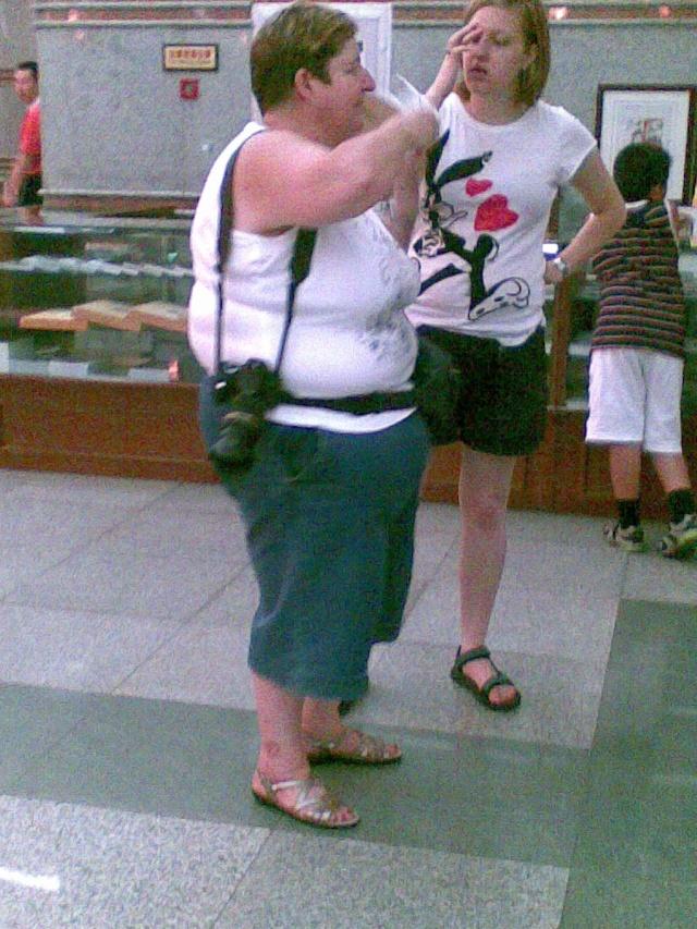 黑白人干肥婆_河南博物院惊现外国肥婆