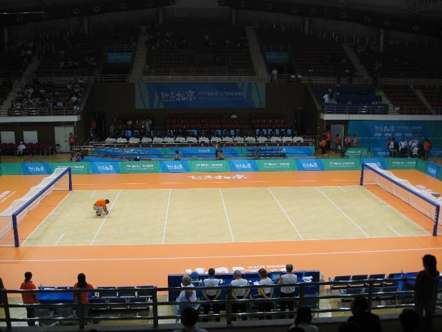 中国农业大学体育馆的门式钢架结构有利于体育馆的
