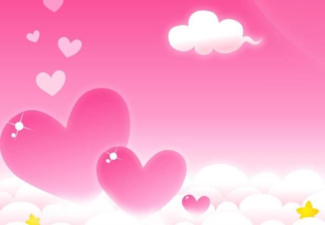粉红色的云朵