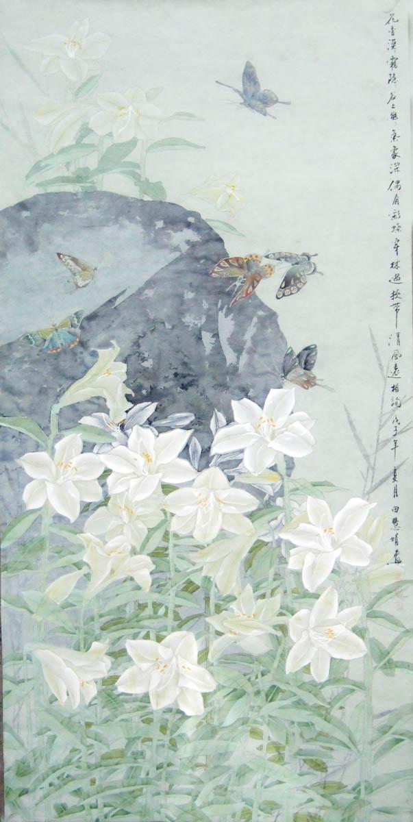 标签:     国画        工笔        百合        花卉        艺