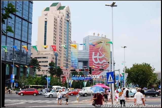 2008年8月7日下午青岛香港中路一角