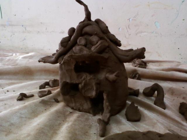 我的农舍-----陶艺班作品