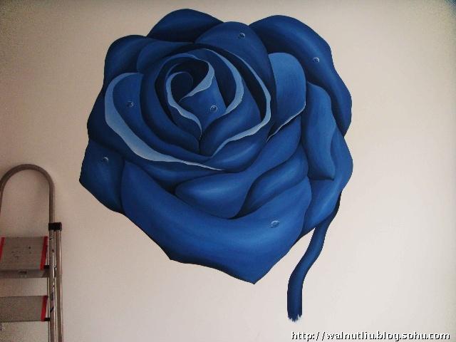 超级蓝玫瑰(手绘)