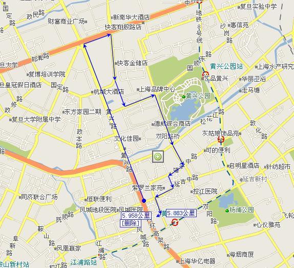 街角地图简笔画