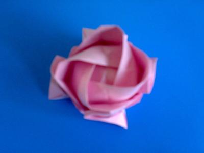 立体折纸大全步骤图解 玫瑰花花
