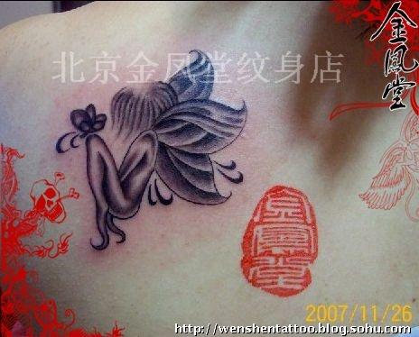 女小天使纹身图案大全展示