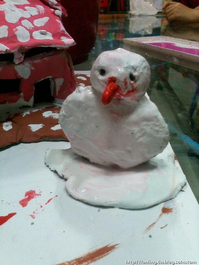 雪花片拼小动物