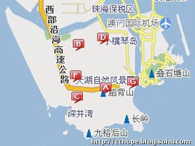 珠海横琴岛图