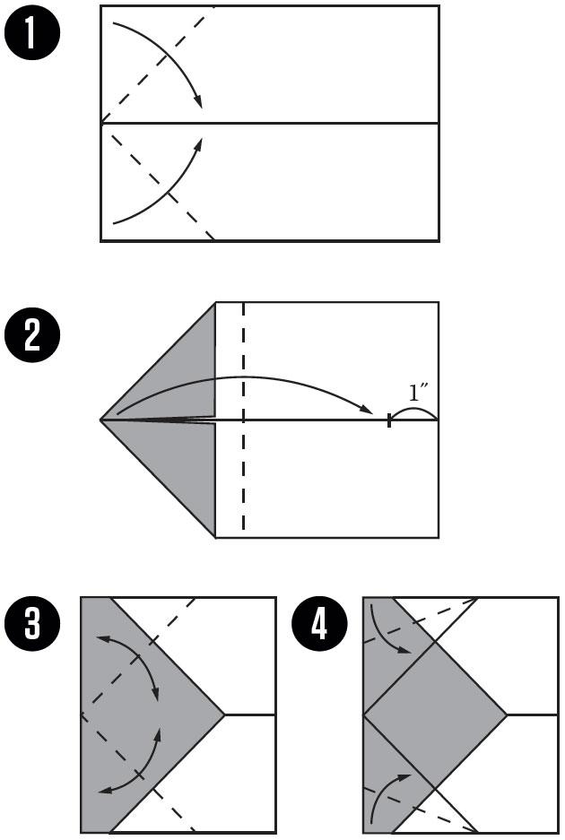 世界著名纸飞机的几种折叠方法(收集于网络 .