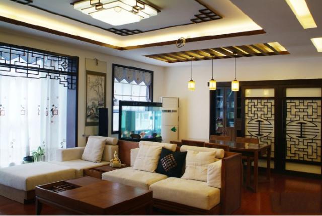 平米 客厅装修效果图 中式古典 二居室 装修设计