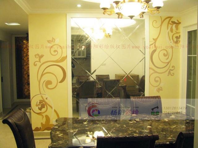 餐厅墙面手绘-苏州手绘墙(现代欧式风格)