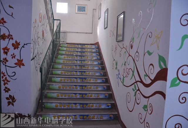 学校教学楼手绘绘画