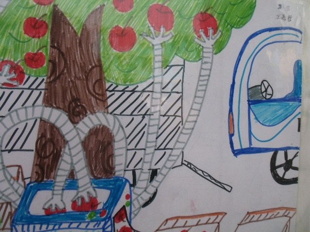 作文三年级关于秋天的画
