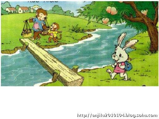小动物过桥简笔画