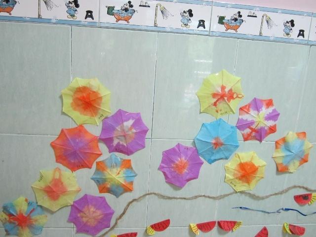 绘画雨伞步骤图片