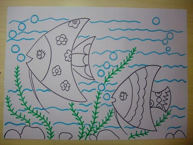 蛋壳贴画:海底世界