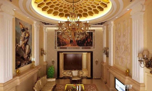 布局:欧式宫廷风格特有的穹顶造型是空间的最大亮点