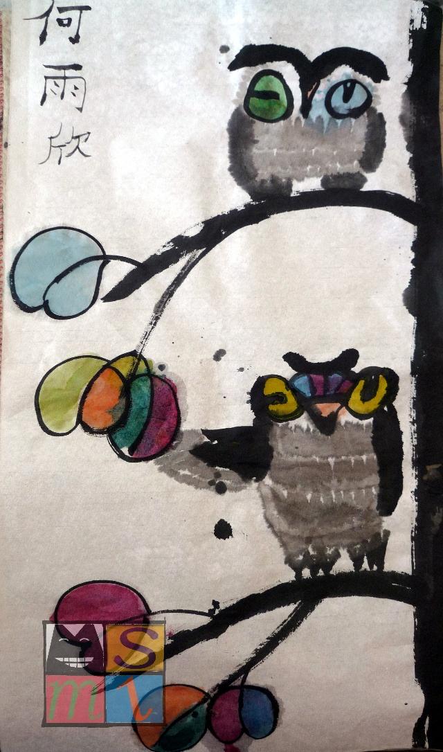 少儿国画no.7——一棵树上的我们